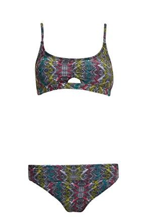 DeFacto Desenli Bikini Takımı
